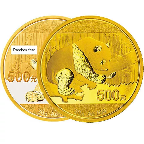 30 Gram Chinese Gold Panda Coin (Random Year, Unsealed)