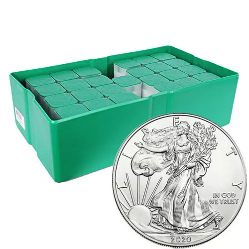2020 (S) American Silver Eagle Monster Box (500 Coins, BU)