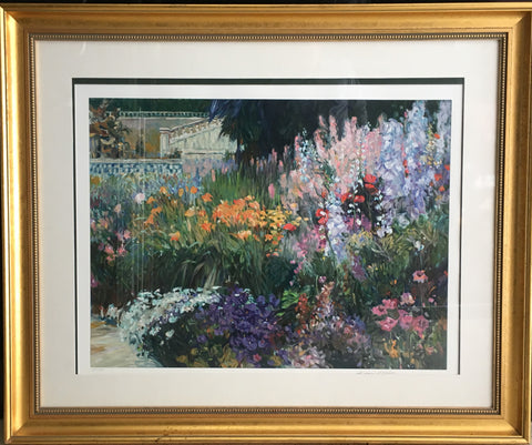 Henri Plisson Greek Garden Limtd Ed Print Signed Beautifully Framed $5K Val COA!