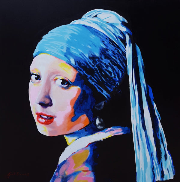 Jack Graves III, 'Girl with Pearl Earring Icon (Vermeer)', Icon Series 2020 - Apr Value: $3.5K*