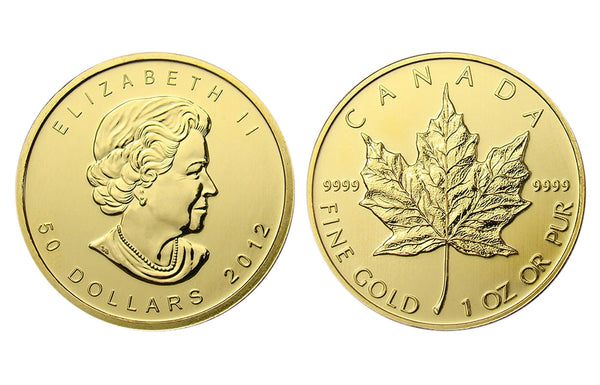 Canadian Maple Leaf 1 Oz. Uncirculated Gold Coins ✓