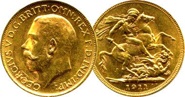 English Sovereign Gold Coins