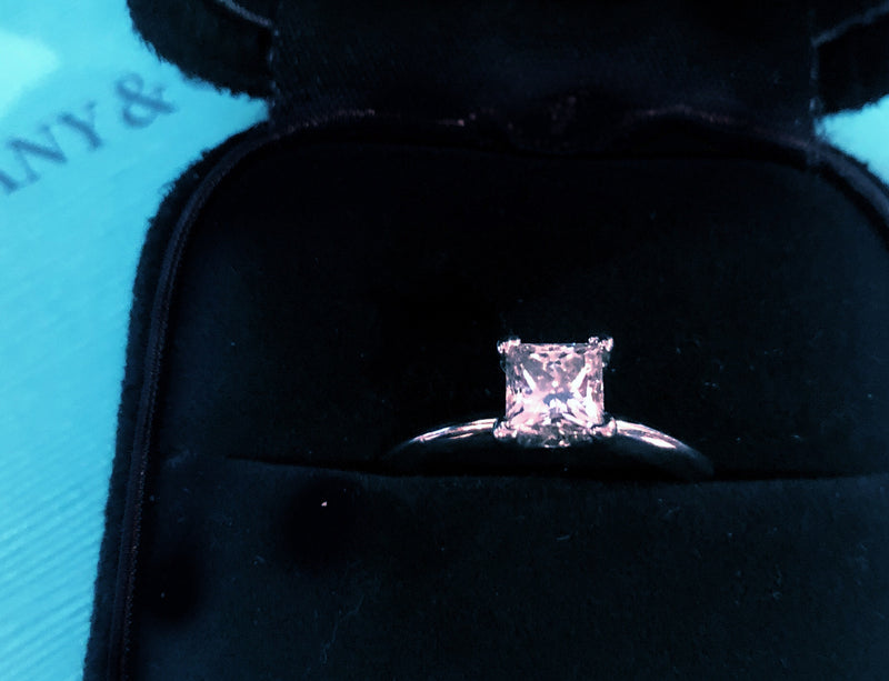 TIFFANY & CO. Princess Diamond Platinum Jewelry Ring - $15K VALUE w/ CoA!