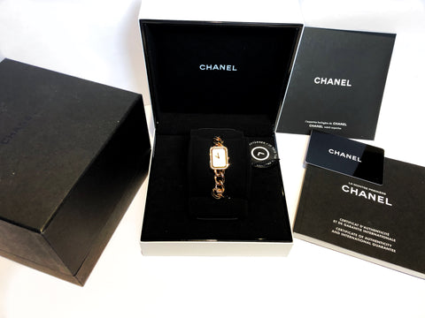 Chanel Premier 18K Rose Gold Women Watch,Pearl Dial, Diamond Bezel, w/box/papers/app, Value$25k