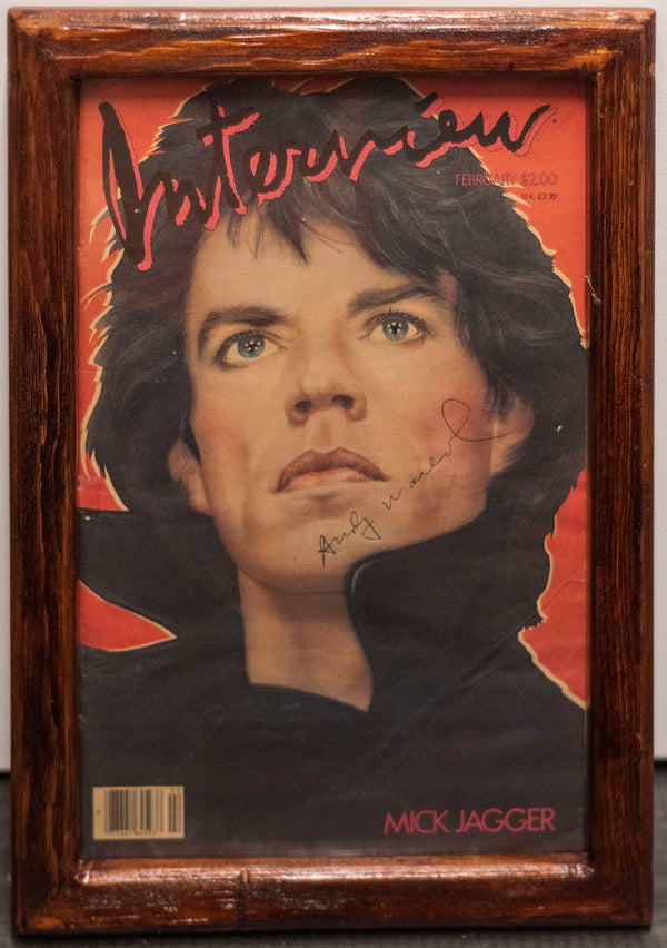 ANDY WARHOL SIGNED- Original Vintage Interview Magazine Cover- w/COA- $6K APR!!@
