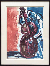 "ROMARE BEARDEN ""Walking Bass""Limited Edition Lithograph (35/175), Jazz Series C.1979 -$15K VALUE *"