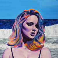 Jack Graves III, 'Jennifer Lawrence Supreme', Eclecticism Series, Original Acrylic on Canvas, 2016-2019 - CoA by Artist - Apr Value: $12K
