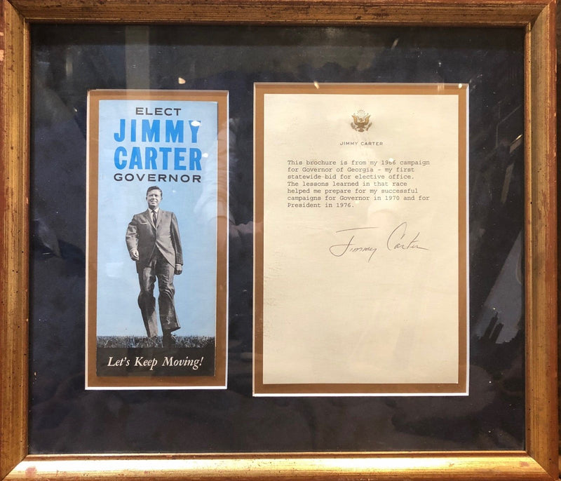 Original Jimmy Carter's 1966 Brochure and Doc Signed w/Great Seal, COA, App$10k