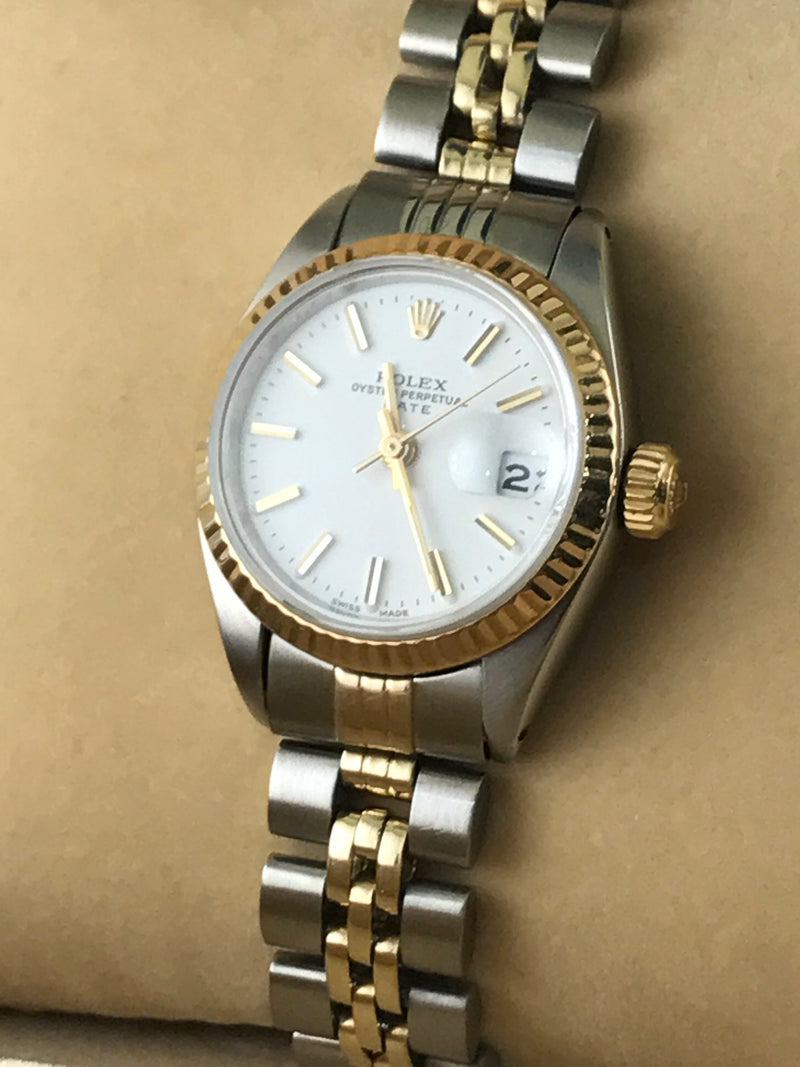 Lady's Rolex DateJust Solid Gold and Stainless Steel W/ COA Est $12K Value!