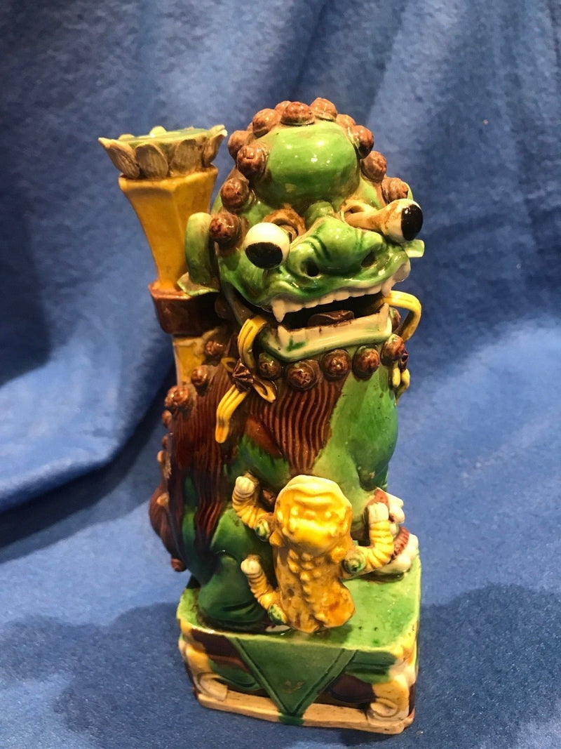 QING DYNASTY Very Rare Hand-made Guardian Lion With Protruding Eyes - $200K Value *