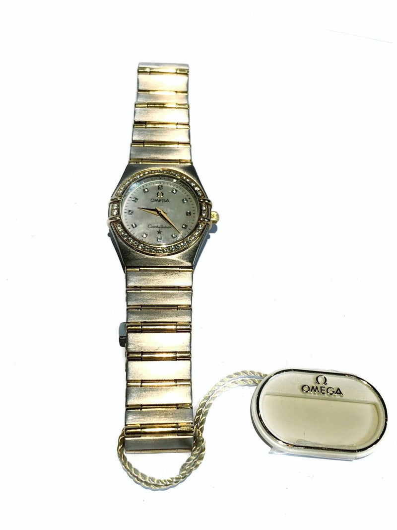 Omega Constellation 18K YG, SS & Diamond 1267-75 Ladies Watch, w/app, Value 6k