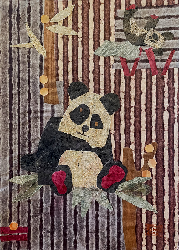 Sandrine Comas, 'Panda Bear,' Mixed Media on Museum Board, 2006 - Appraisal Value: $1.6K!
