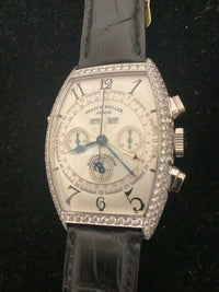FRANCK MULLER Jumbo 160-Diamond Chronograph Limited Edition #15/20 w/ Day/Date - $100K Appraisal Value! ✓