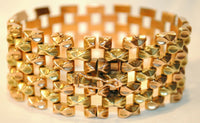 1940s Vintage Tank Track/Tread Style Bracelet in 18K Yellow & Rose Gold - $15K VALUE