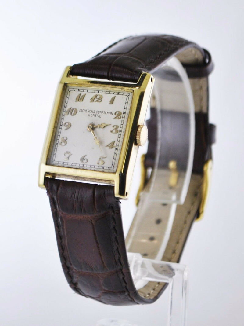 VACHERON CONSTANTIN Vintage 1940's Square Tank 18K Yellow Gold Unisex Mechanical Watch - $40K Appraisal Value! ✓