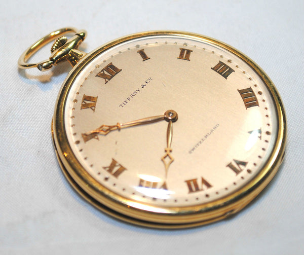 Rare 1930s Tiffany & Co. Triple Signed Pocket Watch in 18K Yellow Gold & Platinum - $10K VALUE