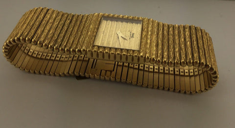Piaget 18K Yellow Gold Bracelet with Beveled Designed Bracelet in Brand New Condition - $50K VALUE