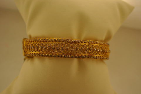 Exquisite Ladies 22K Yellow Gold & Diamond Bangle Bracelet - $20K VALUE
