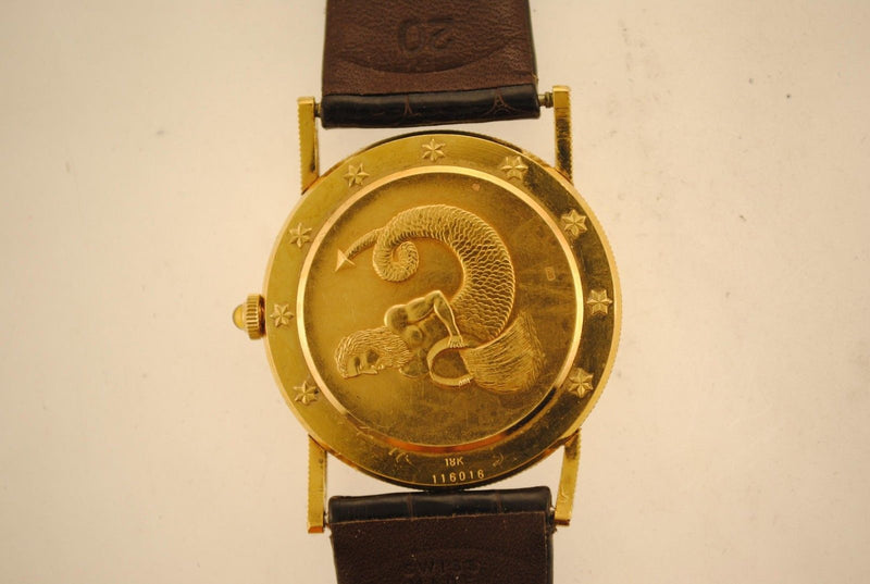 CORUM Astrological Coin Men's Wristwatch in 18K Yellow Gold with Astrological Symbols - $25K VALUE