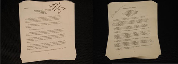 Rare Historical Document President Clinton & Gore's SIGNED 1992 Democratic National Convention Acceptance Speeches - $300K VALUE*