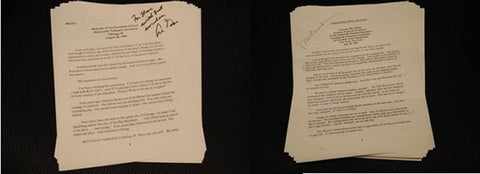Rare Historical Document President Clinton & Gore's SIGNED 1992 Democratic National Convention Acceptance Speeches - $300K VALUE