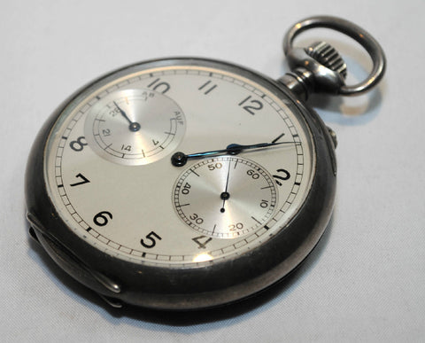 1920s Antique A. Lange & Söhne Pocket Watch in Silver - $40K VALUE