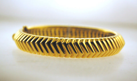 Tiffany & Co. 18K Yellow Gold Geometric Bangle Bracelet - $30K VALUE