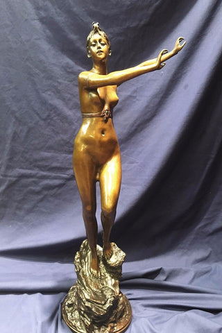 "Late 19th Century Paul Aichele, ""Diane the Huntress"" Nude Bronze Statue Signed - $25K VALUE"