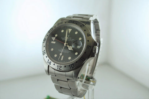 Men's Rolex Explorer II with Tiffany & Co Stainless Steel Dial & Rare Oyster Bracelet - $60K VALUE