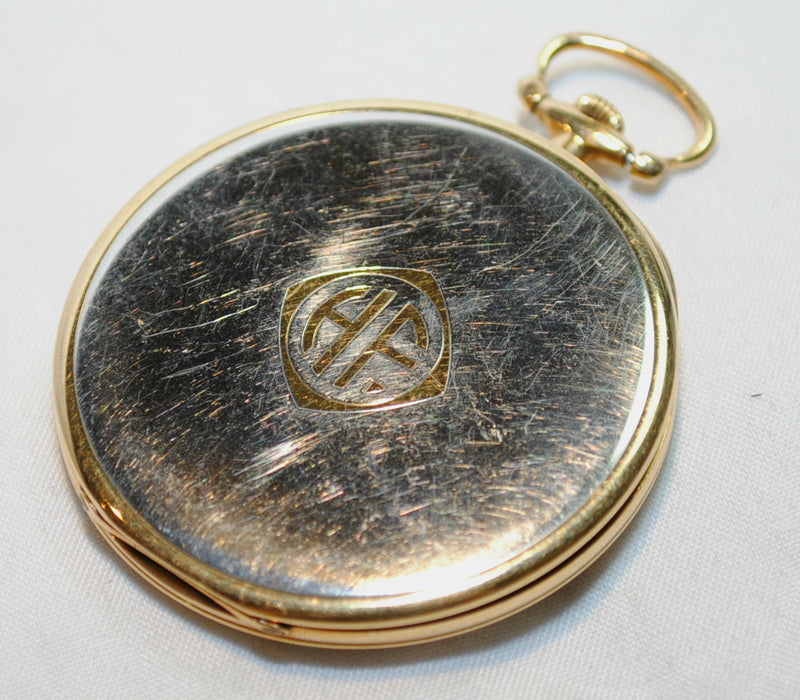 TIFFANY & CO. Rare 1930s Triple Signed Pocket Watch in 18K Yellow Gold & Platinum - $10K VALUE