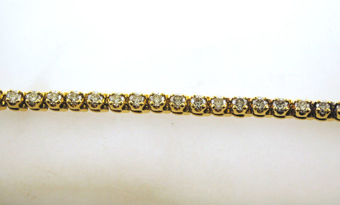 Stunning Contemporary 18K Yellow Gold Tennis Bracelet with 4.50+ Carats in Diamonds - $20K VALUE