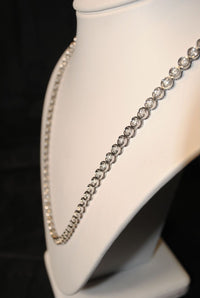 Contemporary White Gold Necklace with 147 Diamonds - 7.5 Cts. - $30K VALUE