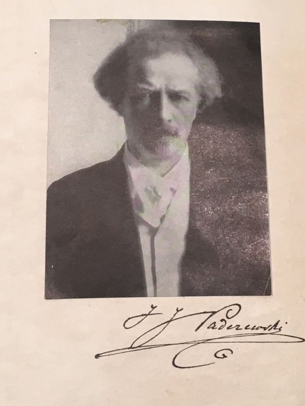 I.J. PADEREWSKI Very Rare Autographed Poland Past & Present Address from 1916 - $10K VALUE