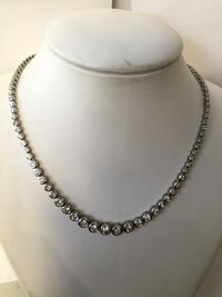 Designer 17+ Carat Brilliant-Cut Round Diamond Necklace in 14K White Gold - $80K VALUE