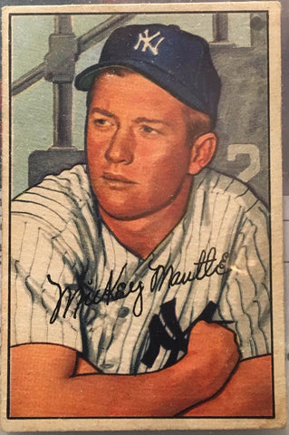 1952 Bowman Mickey Mantle New York Yankees #101 Baseball Card - $5K VALUE