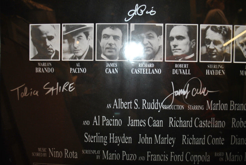 THE GODFATHER 5X Signed 25th Anniversary Poster with Marlon Brando & Al Pacino - $15K VALUE