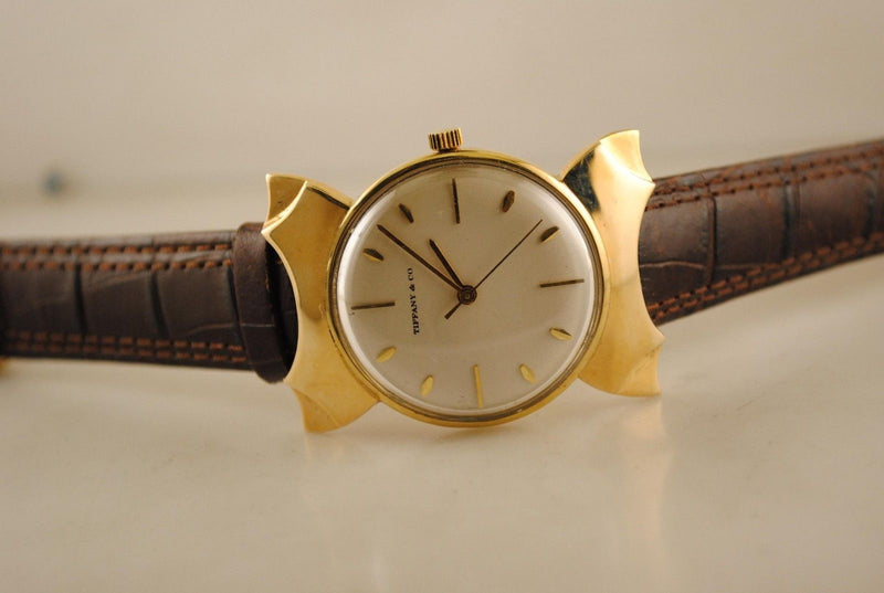 TIFFANY & CO. Men's Vintage 1940s Solid Yellow Gold Watch w/ Fancy Lugs - $25K VALUE