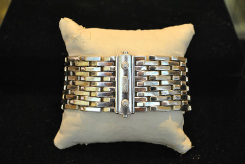 Contemporary Chimento Diamond Reversible Bracelet in 18K White & Yellow Gold - $40K VALUE
