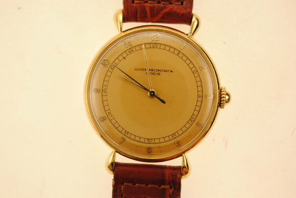1950s Vacheron Constantin Men's Mechanical Wristwatch in 18K Yellow Gold - $30K VALUE