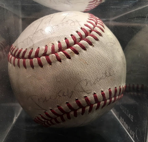 Signed 1967 Yankees Game Day Baseball Autographed by 25 Players & Coaches - $4K VALUE