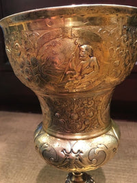 HANS JACHMANN Sterling Silver Gold Plated Handcrafted Chalice, C. 1640s - $60K VALUE