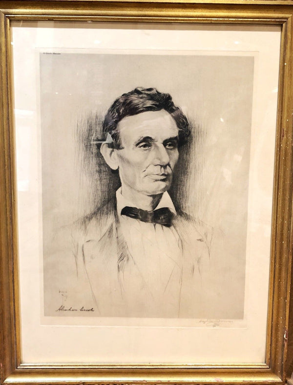 Abraham Lincoln, Original Lithograph Artist Proof by Haydon Jones, w/CoA - Apr Value: $15K*