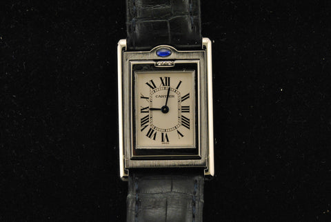 Cartier Basculante Reverso Style Lady's Stainless Steel Wristwatch with White Dial - $10K VALUE
