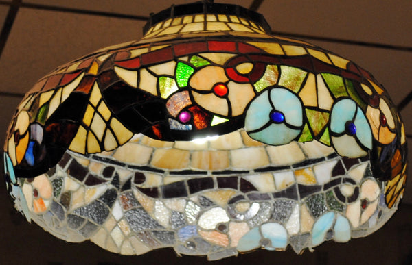 Gorgeous Vintage Tiffany-Style Floral Stained Glass Lamp - $20K VALUE*