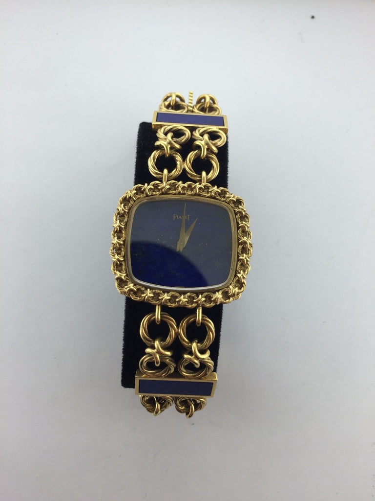 Piaget Lady's Rectangular Wristwatch in 18K Yellow Gold & Lapis Lazuli - $50K VALUE