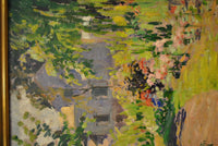 "George Oberteuffer ""Landscape Path""Signed Oil on Board, 1910. - $40K Value! *"