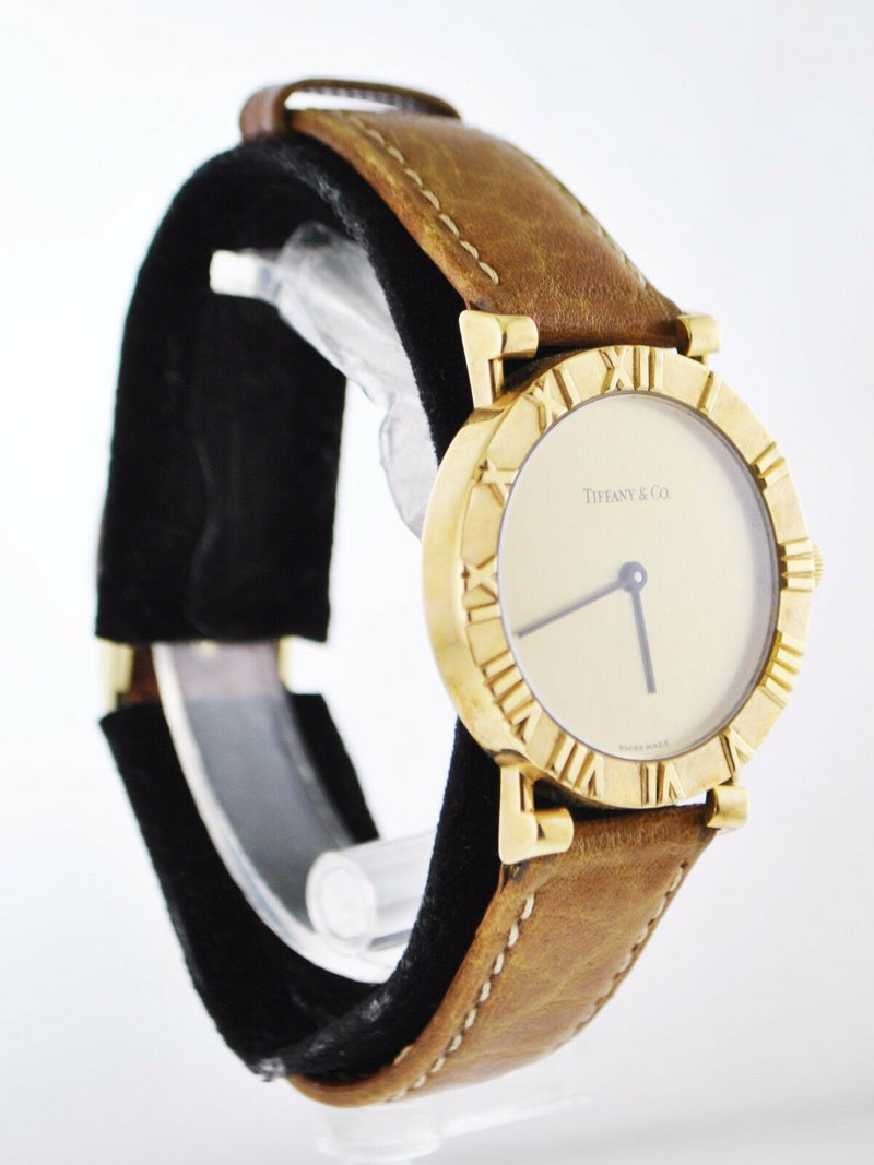 TIFFANY & CO. Atlas Incredibly Rare 18K Yellow Gold Wristwatch - $15K Appraisal Value! ✓