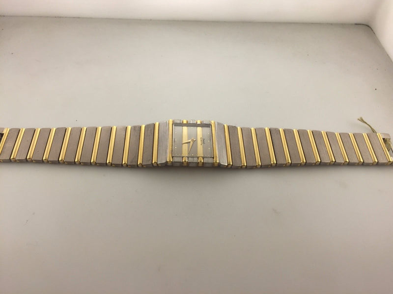 PIAGET Polo Two-tone 18K Yellow & White Gold Wristwatch w/ Rare Bar Motif - $50K VALUE