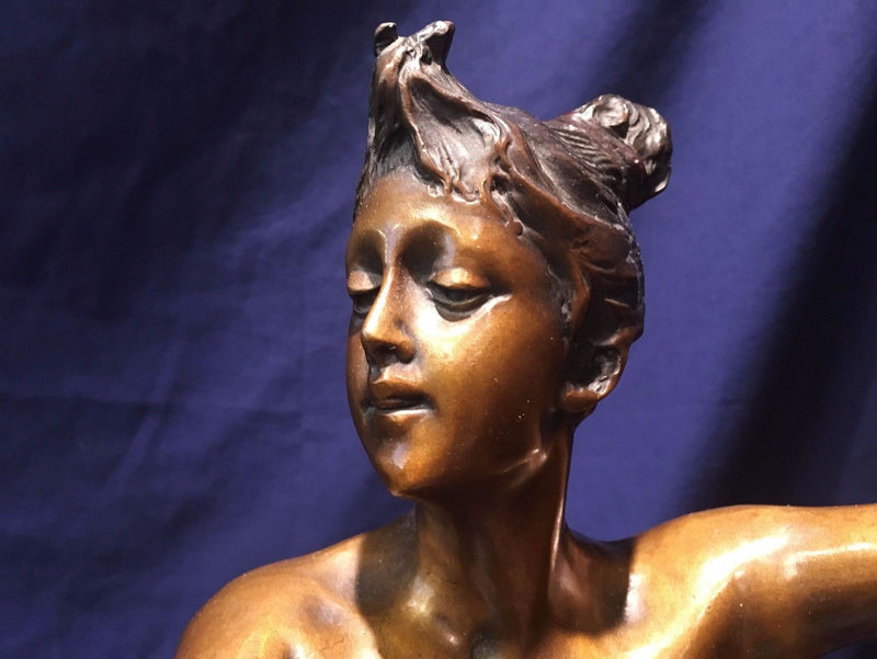 "Late 19th Century Paul Aichele, ""Diane the Huntress"" Nude Bronze Statue Signed - $25K VALUE*"
