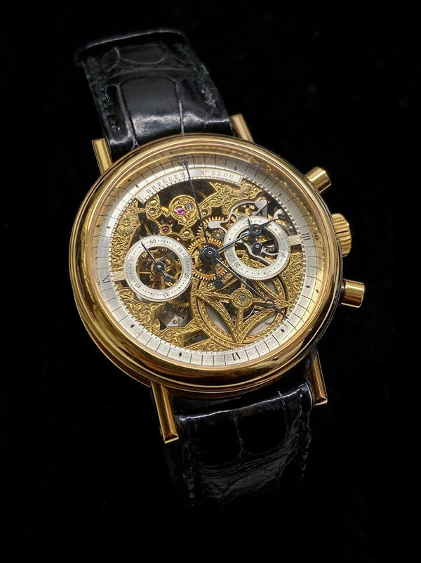 BREGUET Rare Limited Edition 18K Rose Gold Automatic Skeleton Chronograph Ref. #3235 - $150K Appraisal Value! ✓